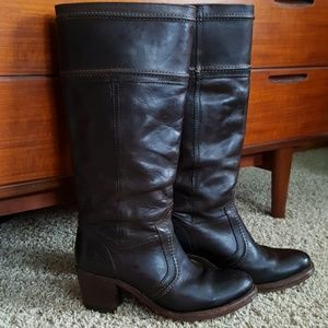 Frye Mid Calf Leather Boot